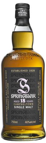 Springbank Single Malt Scotch 18 Year